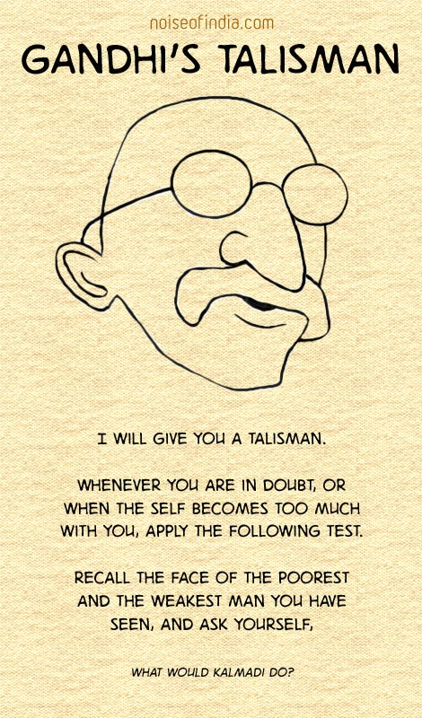 I will give you a talisman...